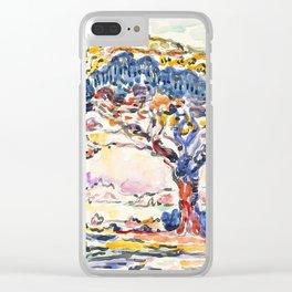 """Paul Signac """"La Baie (Saint-Tropez)"""" Clear iPhone Case"""