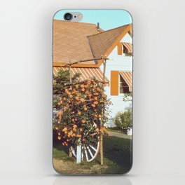 Country House with Rose Trellis iPhone Skin