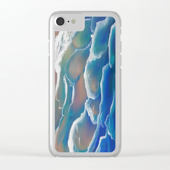Water Coloring Time for Sea Clear iPhone Case