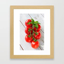 Panicle tomatoes with herbs Framed Art Print