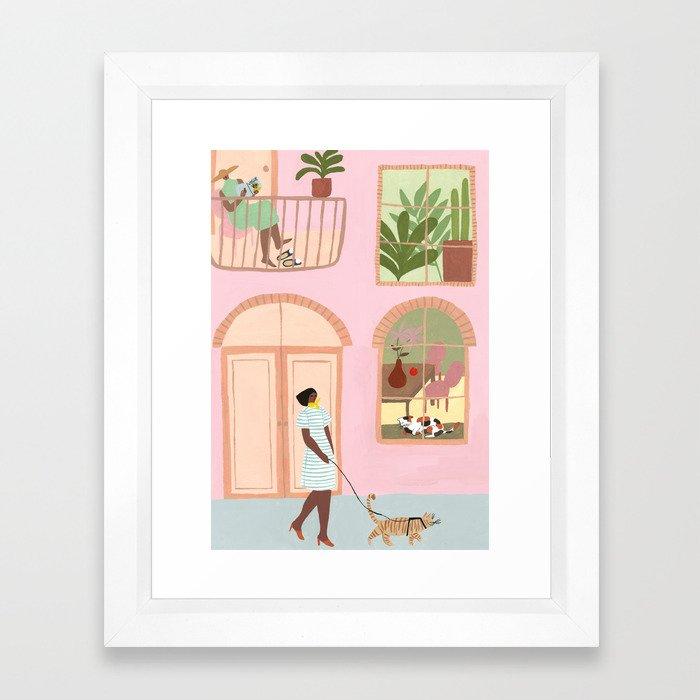 Indoor Kitties Framed Art Print