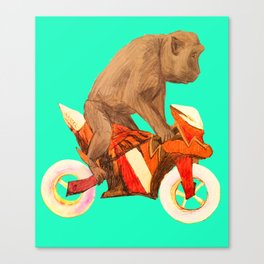 MONKEY BIKER Canvas Print