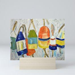 Lobster Buoys Mini Art Print