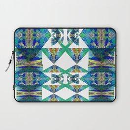 Diamond Geometric Intricate Beauty Green & Blue Laptop Sleeve