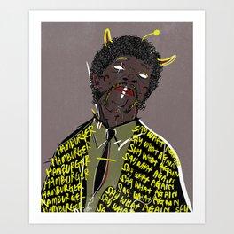 Hamburger Art Print