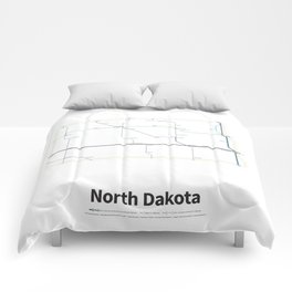 Highways of the USA – North Dakota Comforters