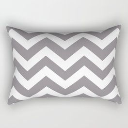Taupe gray - grey color - Zigzag Chevron Pattern Rectangular Pillow