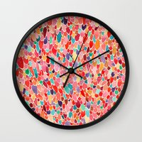 wings Wall Clocks featuring Wings by Verismaya