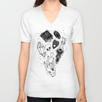 loll3 V-neck T-shirts featuring Witchcraft by lOll3