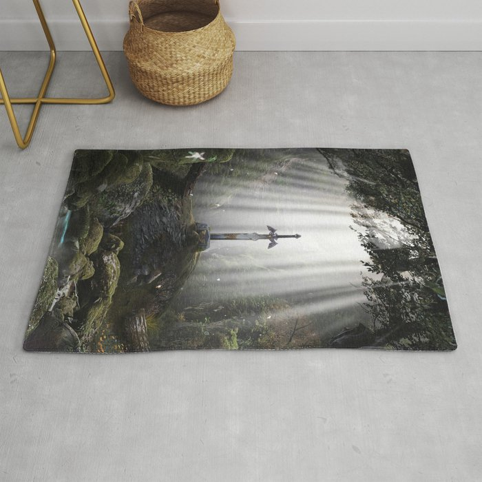 Master Sword in Ruins (Breath of the Wild) Rug
