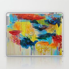 VANCOUVER RAIN - Stunning Rainbow Colorful Bold bright Rain Clouds Stormy Day Wow Abstract Painting Laptop & iPad Skin