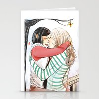 helen Stationery Cards featuring Aline and Helen by The Radioactive Peach
