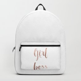 Girl boss - rose gold Backpack