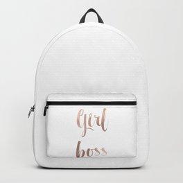 Girl boss - rose gold Backpack