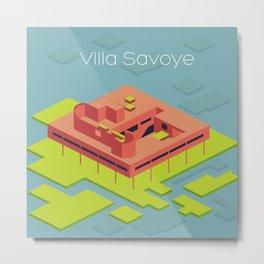 Villa Savoye and Le Corbusier Metal Print