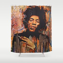 City of Hendrix Shower Curtain