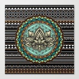Lotus Mandala Pattern Canvas Print