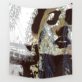 whispered cries can no longer hush Wall Tapestry