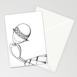 Ludo White Stationery Cards