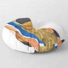 Egon Schiele - Moa - Digital Remastered Edition Floor Pillow