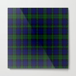 "CAMPBELL CLAN  ""BLACK WATCH"" SCOTTISH  TARTAN DESIGN Metal Print"