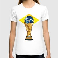 brazil T-shirts featuring Brazil 2014 by The Vector Studio