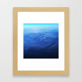 Ombre Arial Framed Art Print