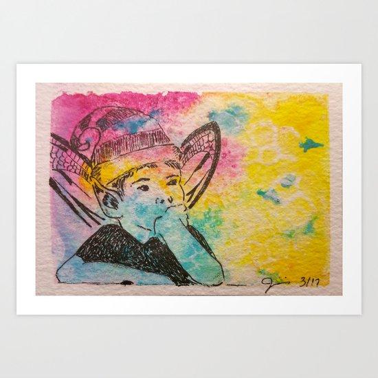 Day Dreaming ( Fairy ) Art Print