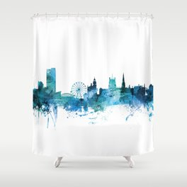 Sheffield England Skyline Shower Curtain