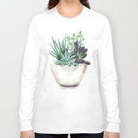 succulents Long Sleeve T-shirts featuring Succulents by Bridget Davidson