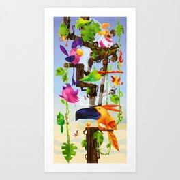 5 O'Clock Treetime – Impressions of Birdland 2 Art Print