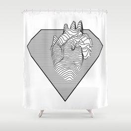 Super Heart Shower Curtain