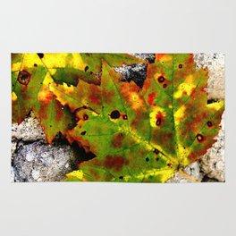 Leaves in Gray Rug