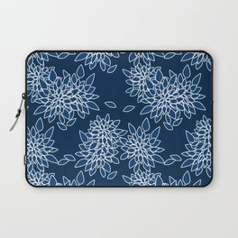 Blue abstract flowers . Laptop Sleeve