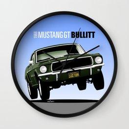 Ford Mustang Fastback GT 1968 from Bullitt Wall Clock