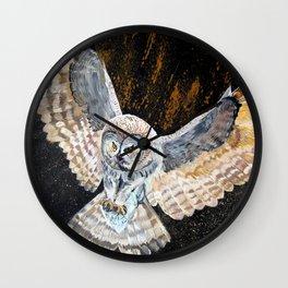 Swooping Owl Wall Clock