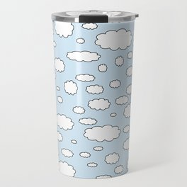 Celestial sky with little clouds of caricatures Travel Mug