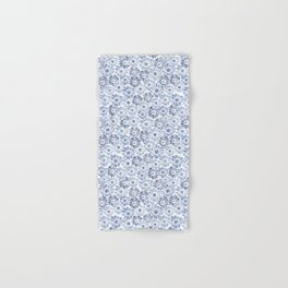 Rocco bloom blue and white Hand & Bath Towel
