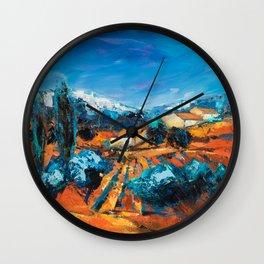 Provencal Landscape Wall Clock