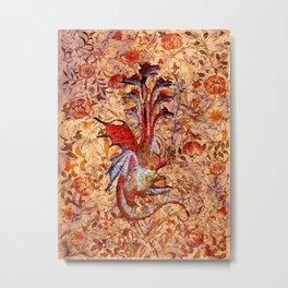 7 Headed Dragon - Garden of Beasts Collection Metal Print