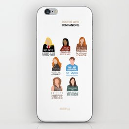 Doctor Who | Companions (alternate version) iPhone Skin