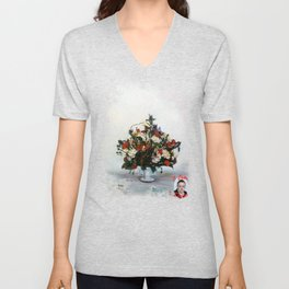 Bodegón de flores/Natureza morta de flores/Still life of flowers Unisex V-Neck
