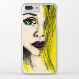 the girl Clear iPhone Case