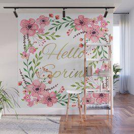 HELLO SPRING Wall Mural