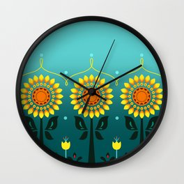 Sunflower Fever Wall Clock