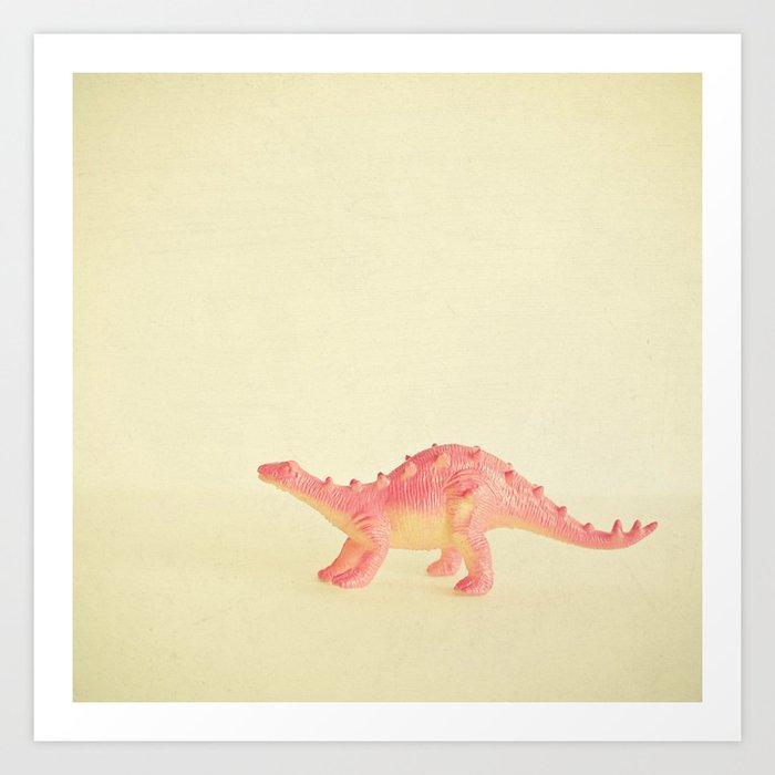 Pink Dinosaur Kunstdrucke