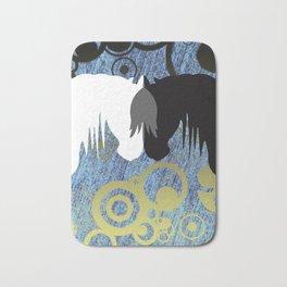 Yin & Yang Horses SeaStorm Bath Mat