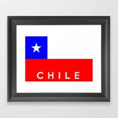 Chile country flag name text Framed Art Print