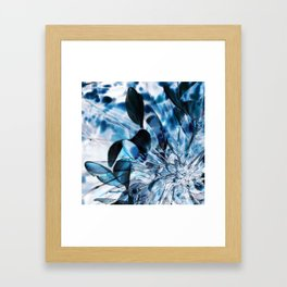 blue flower Framed Art Print