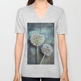 Allium Flowers Unisex V-Neck
